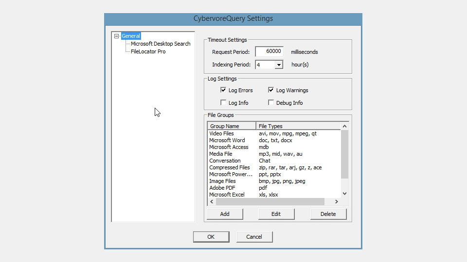 CybervoreQuery™ - best alternative to windows search and outlook search